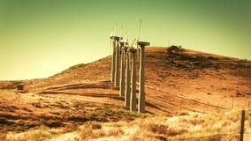 Windkraftanlagen (erneuerbare Energie) stock footage