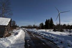 Windkraftanlagen für grüne Energie Stockfotografie