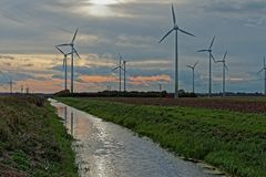 Windkraftanlagen in Großbritannien Lizenzfreies Stockbild