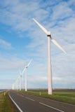 Windkraftanlagen in Holland Stockbilder