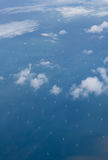 Windkraftanlagen im Meer Lizenzfreie Stockbilder