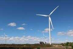 Windkraftanlagen, Westkap, Südafrika Stockfoto