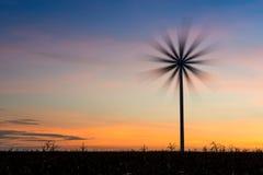 Windkraftanlagestandort Stockfotografie