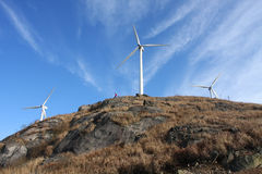 Windleistunggenerator stockbilder