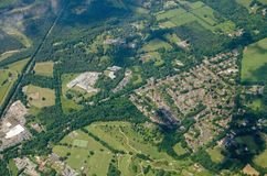 Windlesham, Surrey - Aerial View Royalty Free Stock Photo