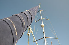 Windless day on a sailboat Royalty Free Stock Images