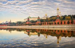 Windless morning. On the Moscow Kremlin Stock Photos