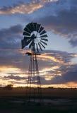 Windmühle in Afrika Stockfoto