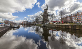 Windmühle in Amsterdam Stockfotografie