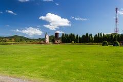 Windmühle auf dem Garten Stockfotografie