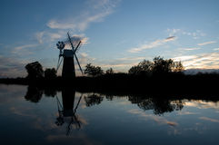 Windmühle auf wie Hügel Stockfotografie