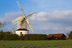 Windmühle bei Framlingham Lizenzfreie Stockfotografie