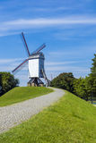 Windmühle Brügges Belgien Stockfotos