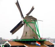 Windmühle an den zaanse schans Stockbild