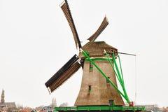 Windmühle an den zaanse schans Stockfoto