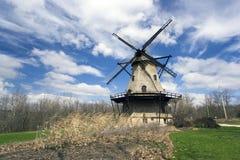 Windmühle in Genf lizenzfreies stockfoto