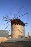 Windmühle Griechenland-Mykonos Lizenzfreie Stockfotografie