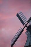Windmühle im Abend Stockbild