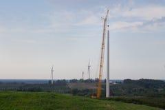 Windmühle im Bau Stockfotografie
