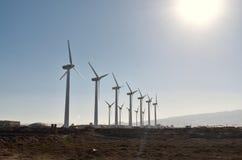 Windmühle im Horizont lizenzfreie stockfotos