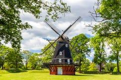 Windmühle in Kastellet-Festung stockbild