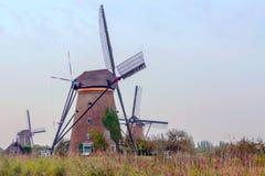 Windmühle in Kinderdijk Stockfotos