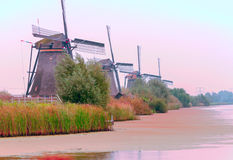 Windmühle in Kinderdijk Lizenzfreies Stockfoto