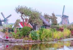Windmühle in Kinderdijk Lizenzfreie Stockfotografie