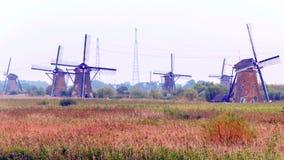 Windmühle in Kinderdijk Lizenzfreie Stockfotos