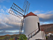 Windmühle in Lanzarote Lizenzfreies Stockfoto
