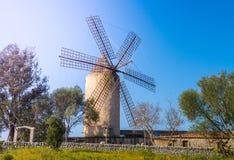 Windmühle, Majorca Stockbilder