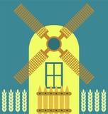 Windmühle modern vektor abbildung
