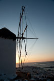 Windmühle in Mykonos Stockfoto