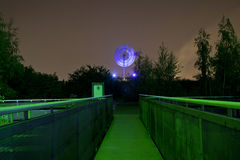 Windmühle nachts Lizenzfreie Stockfotos