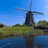 Windmühle nahe Amsterdam, die Niederlande Stockfotografie