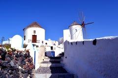 Windmühle, Oia Griechenland Lizenzfreies Stockfoto