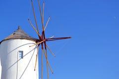 Windmühle, Santorini Griechenland Lizenzfreies Stockbild