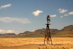 Windmühle in Texas Stockfotos