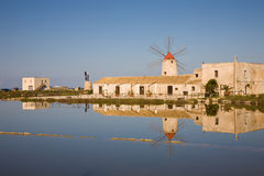 Windmühle, Trapani Stockfoto