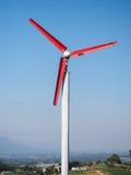 Windmühle und Stadt Lizenzfreies Stockbild