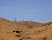 Windmühle, USA, Landstraße Lizenzfreie Stockfotografie