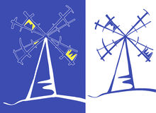 Windmühlen Vektor Abbildung