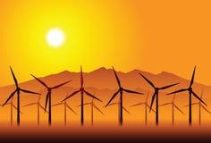Windmühlen Lizenzfreies Stockfoto