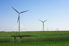 Windmühlen Stockbild