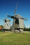 Windmühlen in Angla Lizenzfreie Stockbilder