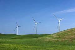 Windmühlen auf dem Palouse Stockfotos