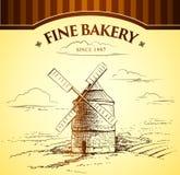 Windmühlen-Bäckerei lizenzfreie abbildung