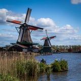 Windmühlen bei Zaanse Schans Lizenzfreie Stockfotografie