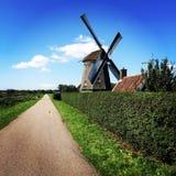Windmühlen der Niederlande Stockfotos