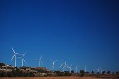 Windmühlen-Hintergrund Lizenzfreie Stockfotografie